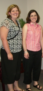 Heather and I at my EBM interview last June