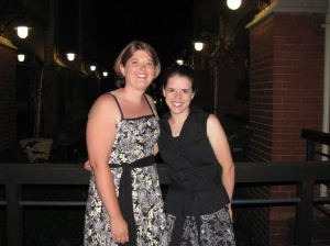 Heather and I last night after a nice dinner out for one of our interns' birthdays.